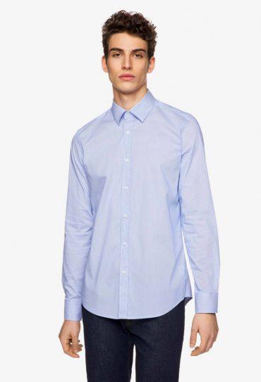 Benetton Slim-Fit-Hemd mit Streifen blau