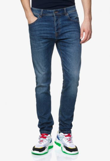 Benetton Slim-Fit-Jeans blau