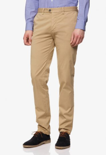 Benetton Stretchige Chinos im Slim Fit beige