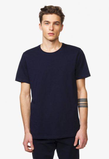 Benetton T-Shirt mit kurzen Ärmeln dunkelblau