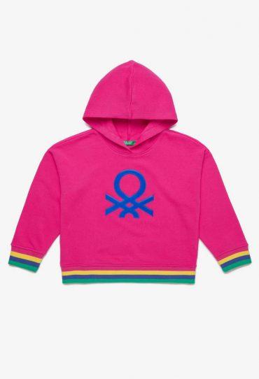 UCB-Bambino Sweatshirt mit Kapuze und Aufnäher