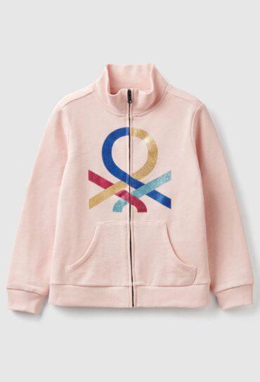Sweatshirt mit Reißverschluss und Logo