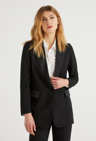 Jacke aus Kreppstoff
