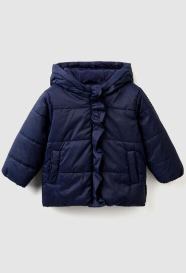 Wattierte Jacke mit Rüschen