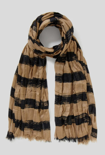 Gestreifter Schal aus leichter Viskose
