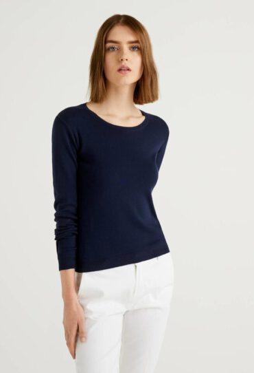 Pullover aus Baumwolle mit Rundhals