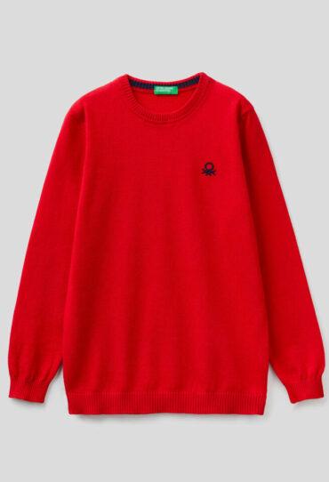 Pullover in 100% Baumwolle mit Logo