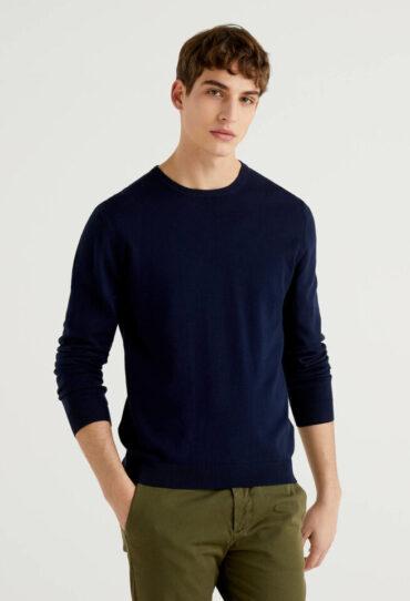 Pullover mit Rundauschnitt aus Baumwolle