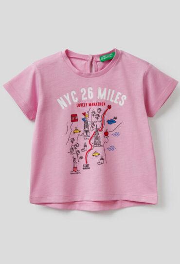 T-Shirt auT-Shirt aus 100% Baumwolle mit Print