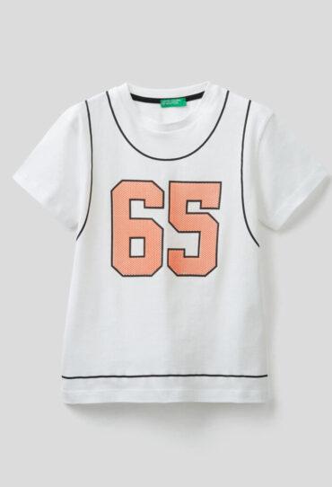 T-Shirt aus Baumwolle mit 3D-Print