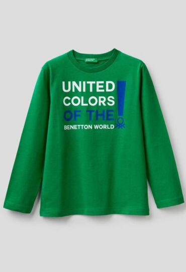 T-Shirt mit langen Ärmeln aus Biobaumwolle