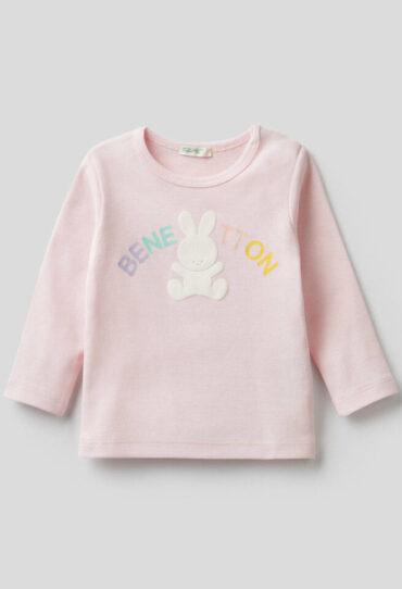 T-Shirt mit langen Ärmeln und Print