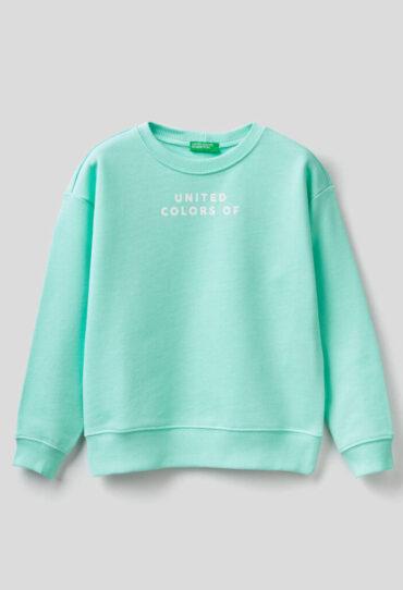 Sweatshirt aus reiner Baumwolle mit Print