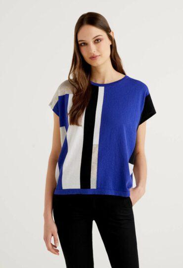 Pullover mit geometrischer Verarbeitung